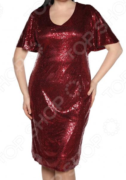 Платье Blagof «Великолепие блеска». Цвет: бордовый