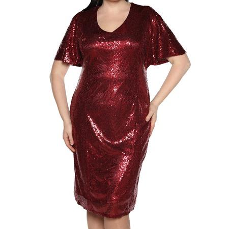 Купить Платье Blagof «Великолепие блеска». Цвет: бордовый