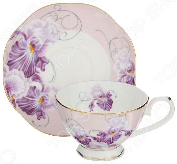Чайная пара Elan Gallery «Ирисы» сервировка стола