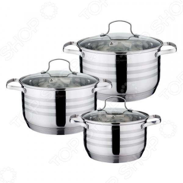Набор кастрюль Rainstahl 1954-06RS/CW набор посуды rainstahl 6 предметов 1954 06rs cw