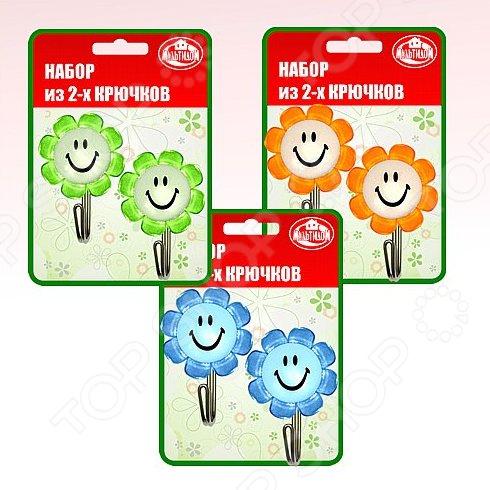 Набор крючков Мультидом «Улыбка с цветком» FD27-17. В ассортименте