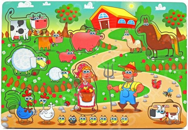 Игра развивающая Мастер игрушек «Рамка-вкладка: Большая ферма» мастер игрушек