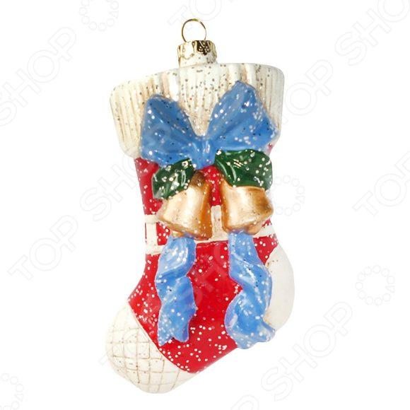 Елочное украшение Новогодняя сказка «Подарочный носок»