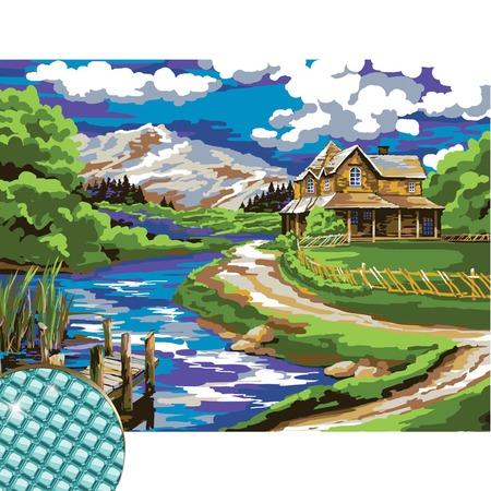 Купить Набор для алмазной вышивки Школа талантов «Домик у реки»