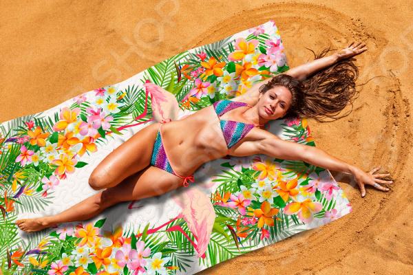 Покрывало пляжное Сирень «Тропическое лето»