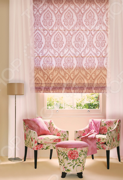 Штора римская «Соблазн». Цвет: розовый римская штора quelle quelle 541783 6 в ш ок 150 90 см
