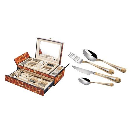 Купить Набор столовых приборов Hans Muller «Герб». Цвет упаковки: коричневый
