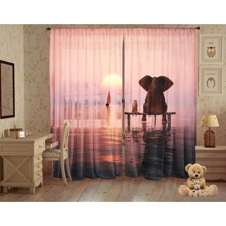 Купить Комплект фототюля ТамиТекс «Слон и Моська»