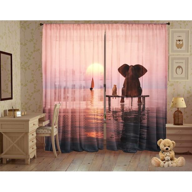 фото Комплект фототюля ТамиТекс «Слон и Моська»