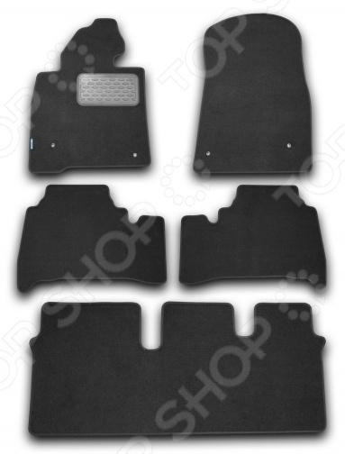 Комплект ковриков в салон автомобиля Novline-Autofamily Lexus LX 570 2007 универсал. Цвет: черный комплект 3d ковриков в салон автомобиля novline autofamily ford mondeo 2015
