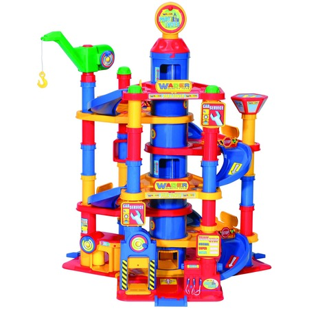 Купить Набор игровой для мальчика Wader «Паркинг 7-уровневый с автомобилями»