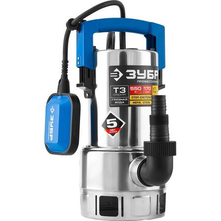 Купить Насос погружной дренажный для грязной воды Зубр «Профессионал» НПГ-Т3-550-С