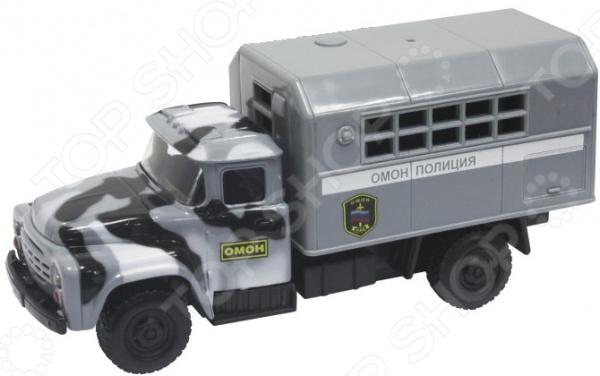 Машинка инерционная PlaySmart Police «ОМОН» танки и военная техника playsmart паз омон
