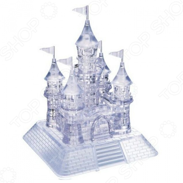 Кристальный пазл 3D Crystal Puzzle «Замок» new 3d metal puzzle bismarck battleship warship p084 s diy 3d laser cut assemble models toys for audit