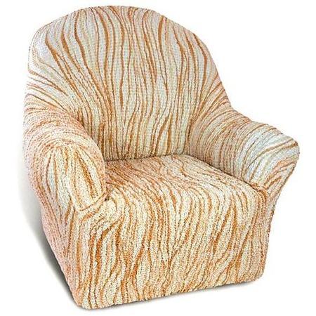 Купить Натяжной чехол на кресло Еврочехол «Виста. Элегант Крем»
