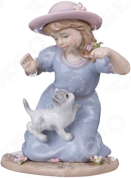 Статуэтка Lefard «Девочка с котенком»