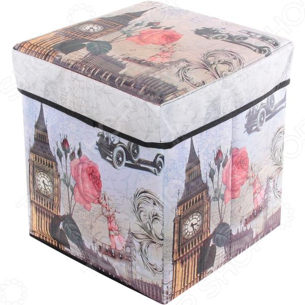 Пуф складной с ящиком для хранения EL Casa «Биг Бен» EL Casa - артикул: 972128