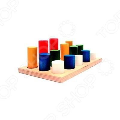 Игрушка развивающая RNToys «Цилиндры втыкалки 3 ряда» -064