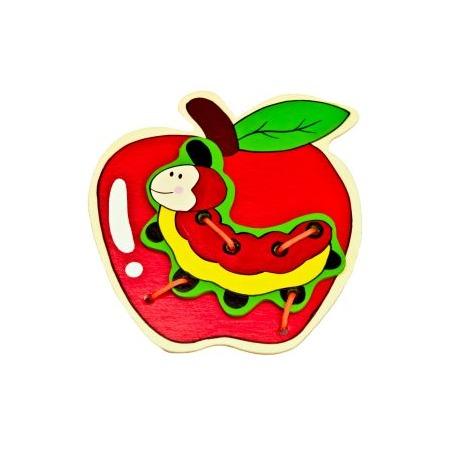 Купить Игрушка развивающая Mapacha «Шнуровка. Яблоко»