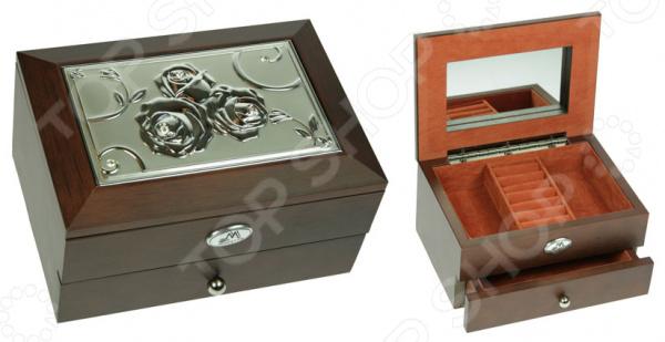 Шкатулка ювелирная двухъярусная со стразами Moretto 39851