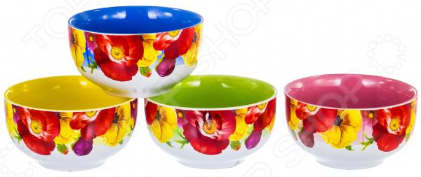 Салатник Elrington «Радуга» 09007. В ассортименте салатник цветочная радуга