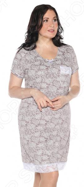 Ночная сорочка El Fa Mei «Сказочный сон». Цвет: какао