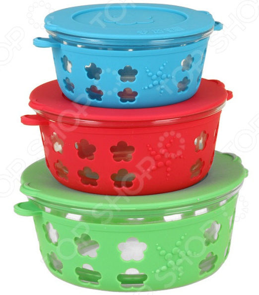 Набор контейнеров для хранения продуктов Pomi d'Oro «Радуга»