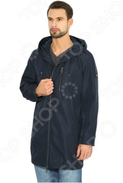 Куртка Finn Flare B17-42000. Цвет: темно-синий