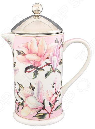 Френч-пресс Elan Gallery «Орхидея на розовом»