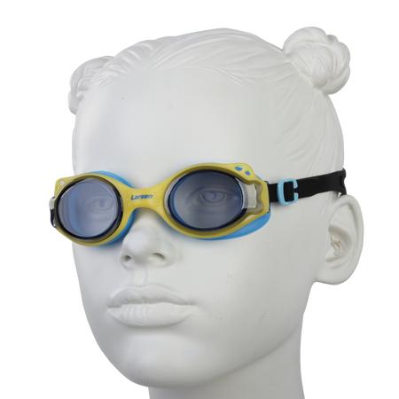 Купить Очки для плавания Larsen DS27. Цвет: желтый, синий