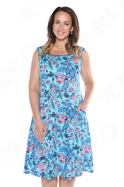 Платье Алтекс «Варенька». Цвет: бирюзовый