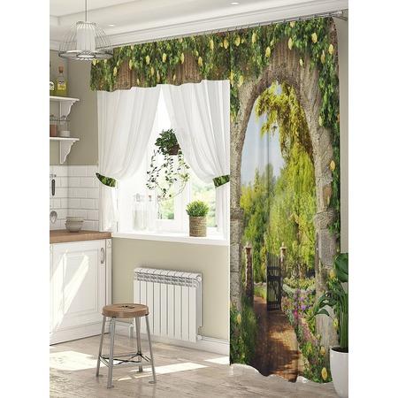Купить Комплект штор для окна с балконом ТамиТекс «Цветочный свод»