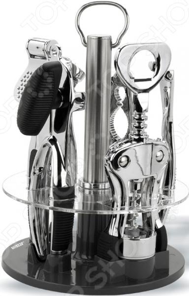 Набор кухонных принадлежностей на вращающейся подставке Vitesse Claire eurosvet siena 20430
