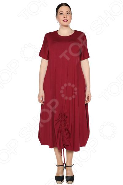 Платье Kidonly «Романтичный день». Цвет: бордовый