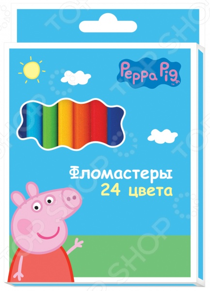 Набор фломастеров Peppa Pig «Свинка Пеппа»: 24 цвета