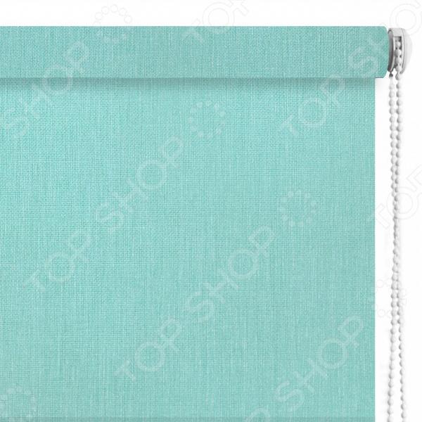 Рулонная штора Эскар «Меланж». Цвет: бирюзовый