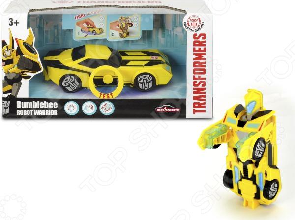 Игрушка-трансформер Dickie Bumblebee со светом и звуком машины dickie эвакуатор со светом и звуком 15 см