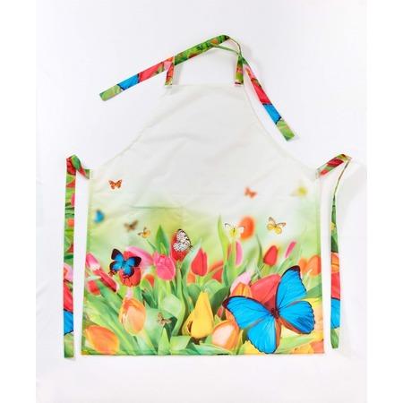 Купить Фартук Сирень «Бабочки»