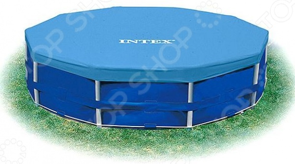 Тент для бассейна Intex круглый intex тент для каркасных бассейнов easy 28031 диаметр 366 см