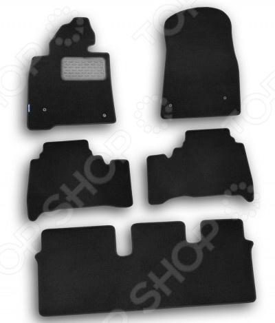 Комплект ковриков в салон автомобиля Novline-Autofamily Toyota Land Cruiser 200 2007 внедорожник. Цвет: черный коврики в салон toyota corolla 2007