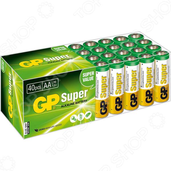 Набор батареек щелочных GP Super Alkaline 15A LR6 AA батарея gp 15a 2шт super alkaline aa