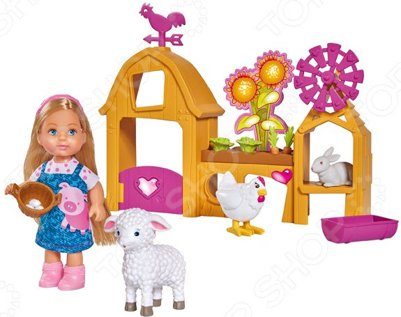 Набор игровой с куклой Simba «Еви. Счастливая ферма»