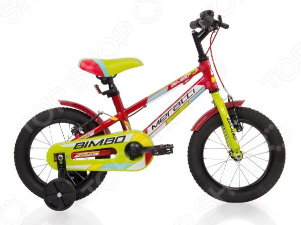 Велосипед детский Meratti Bimbo 14 напольный стенд c корзиной для сканера 36 42