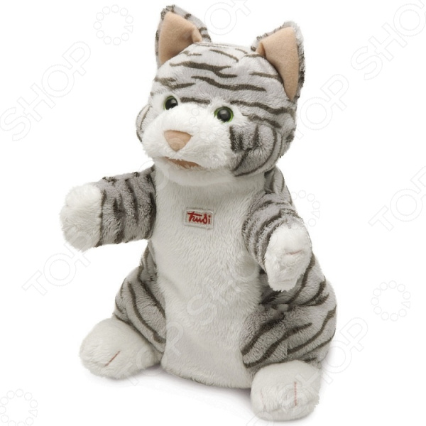 Мягкая игрушка на руку Trudi «Кошка полосатая» мягкие игрушки trudi лайка маркус 34 см