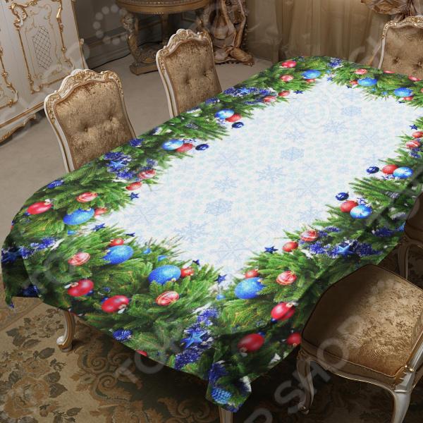 Скатерть ТамиТекс «Новогодняя» сервировка стола