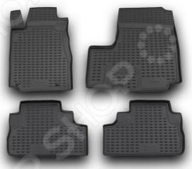 Комплект ковриков в салон автомобиля Novline-Autofamily Honda CR-V III 2007 с сабвуфером комплект 3d ковриков в салон автомобиля novline autofamily ford mondeo 2015