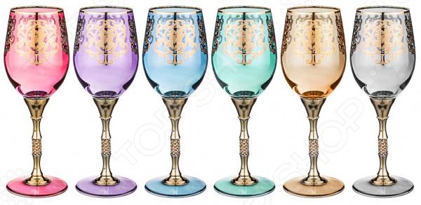 Набор бокалов для вина ART DECOR «Позитано микс» 326-063 набор бокалов crystalex джина б декора 6шт 210мл шампанское стекло