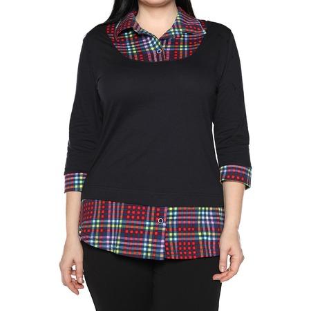 Купить Блуза El Fa Mei «Интересное сочетание». Цвет: мультиколор