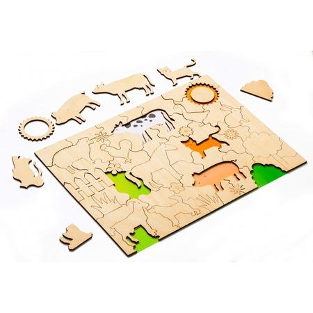 Купить Пазл деревянный Bradex «Домашние животные»