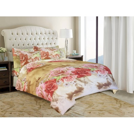 Комплект постельного белья «Прелестные розы». Евро